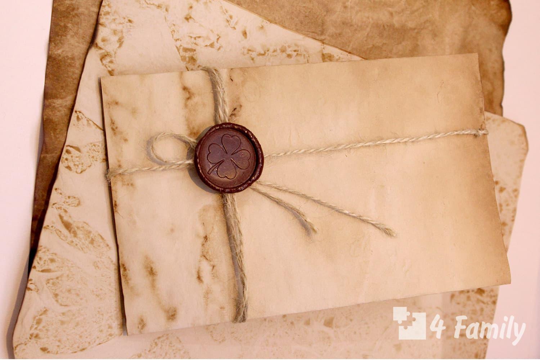 Фото. Лайфхак, как сделать конверт