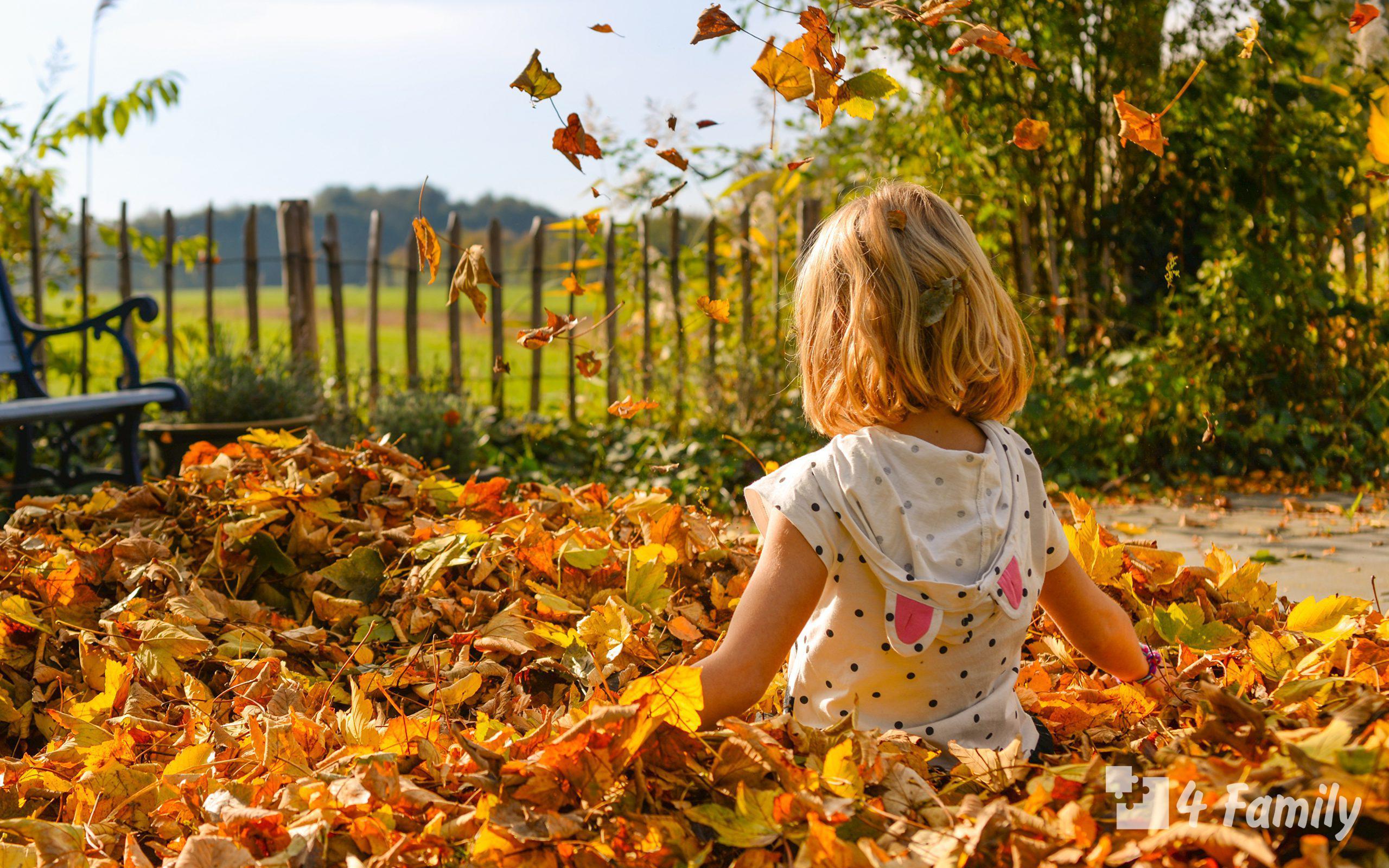 Знакомим ребенка с осенью
