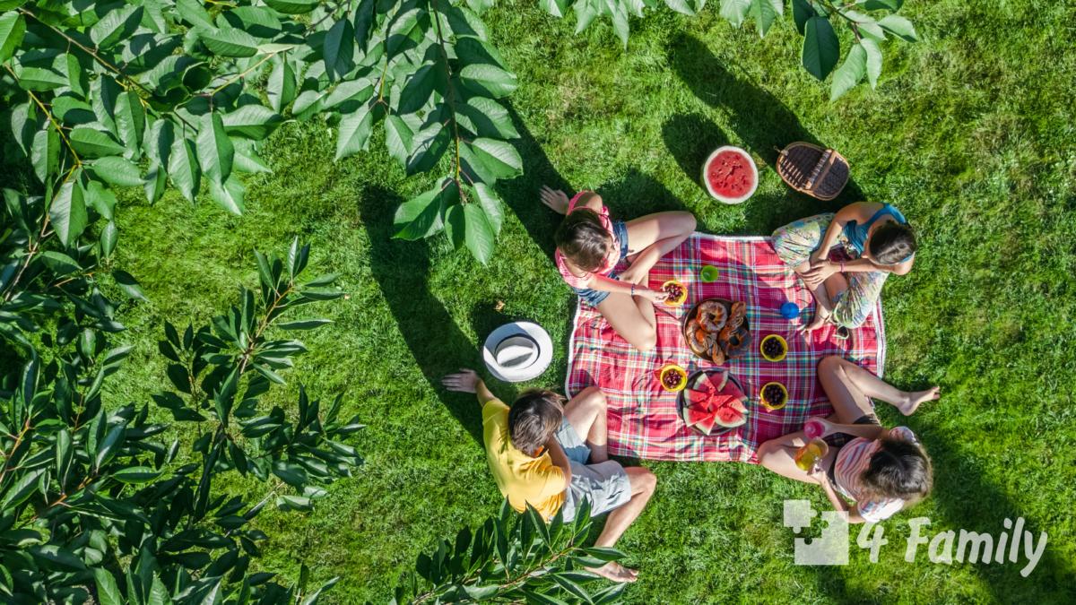 Фото. Пикник на природе: чем развлечь детей