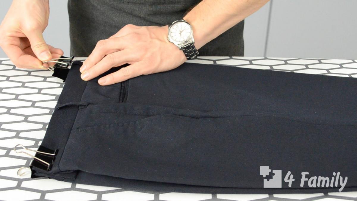 Фото. Как сделать стрелки на брюках утюгом