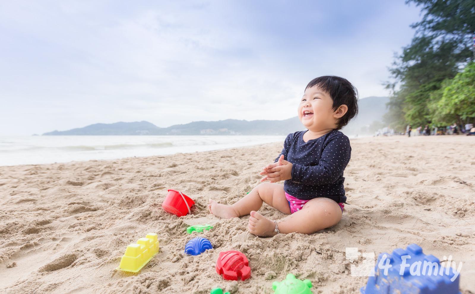 Фото. Идем на пляж с ребенком