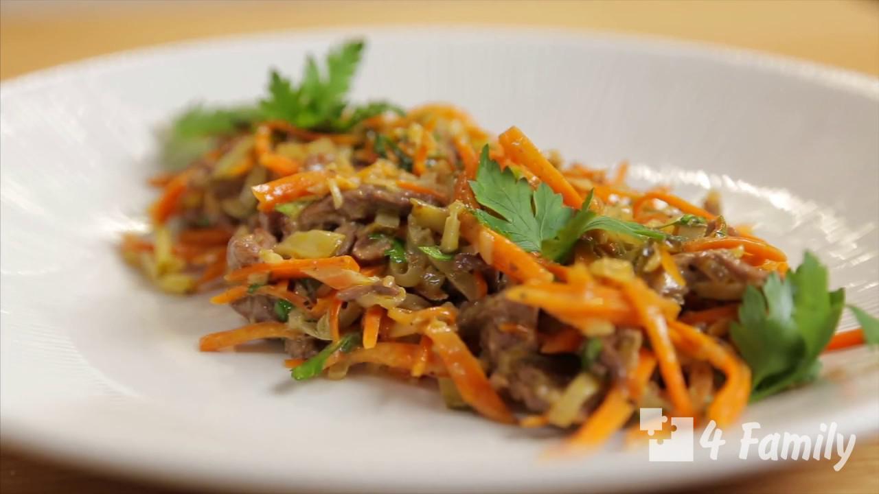 4family Как приготовить салат обжорка с фасолью и копченой колбасой