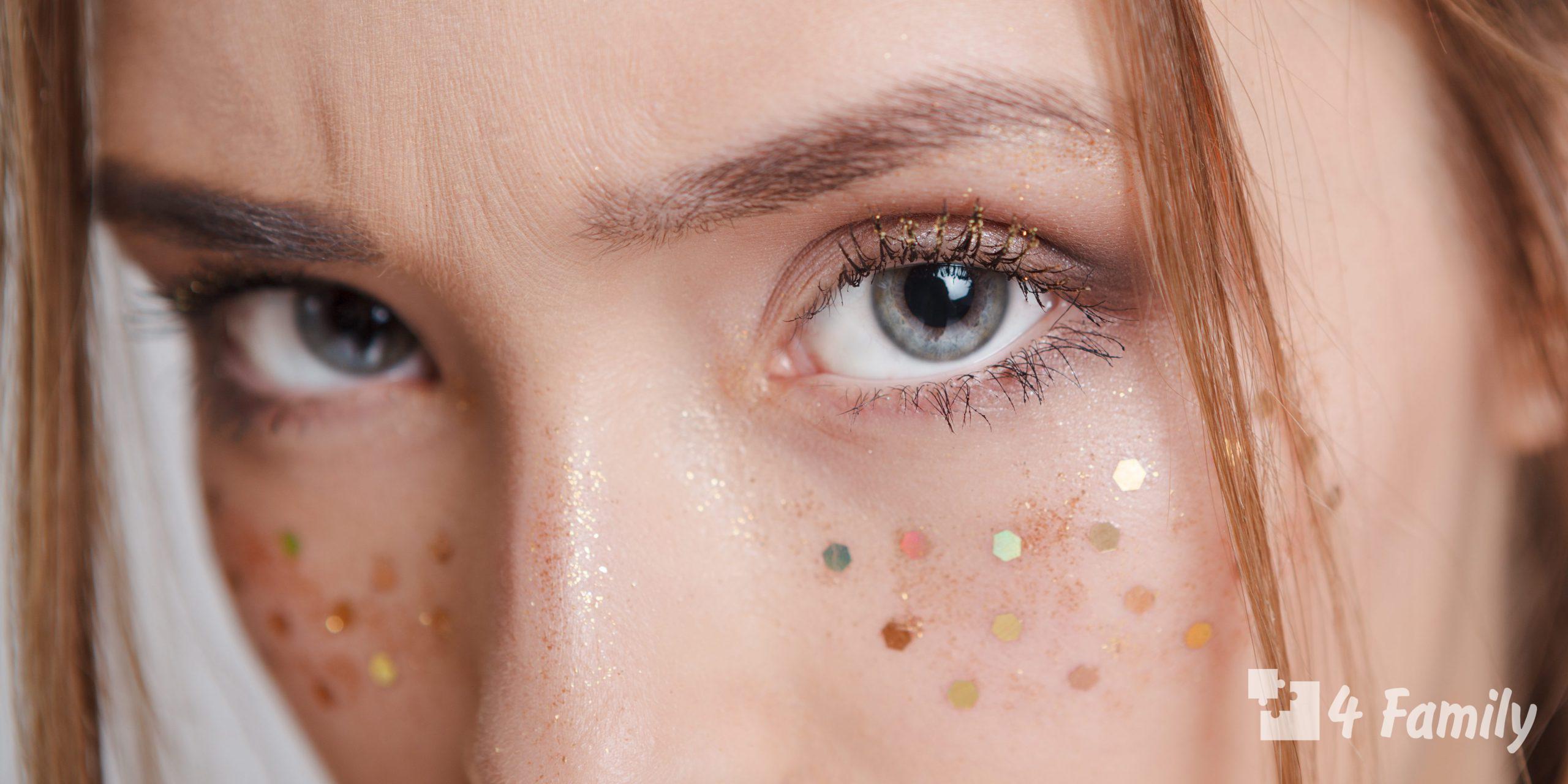 Идеи стильного макияжа с глиттером