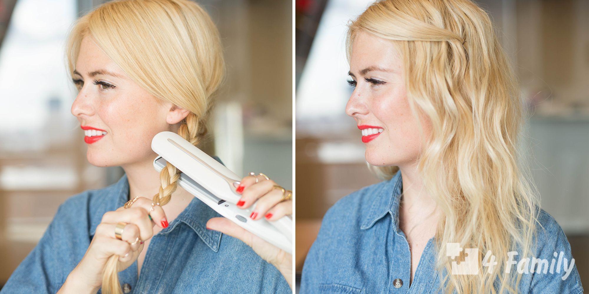4family Как сделать самой укладку волос дома
