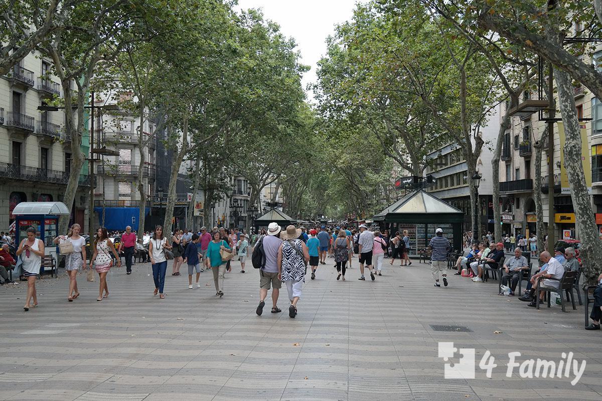 4family Рамбла (La Rambla) в Барселоне
