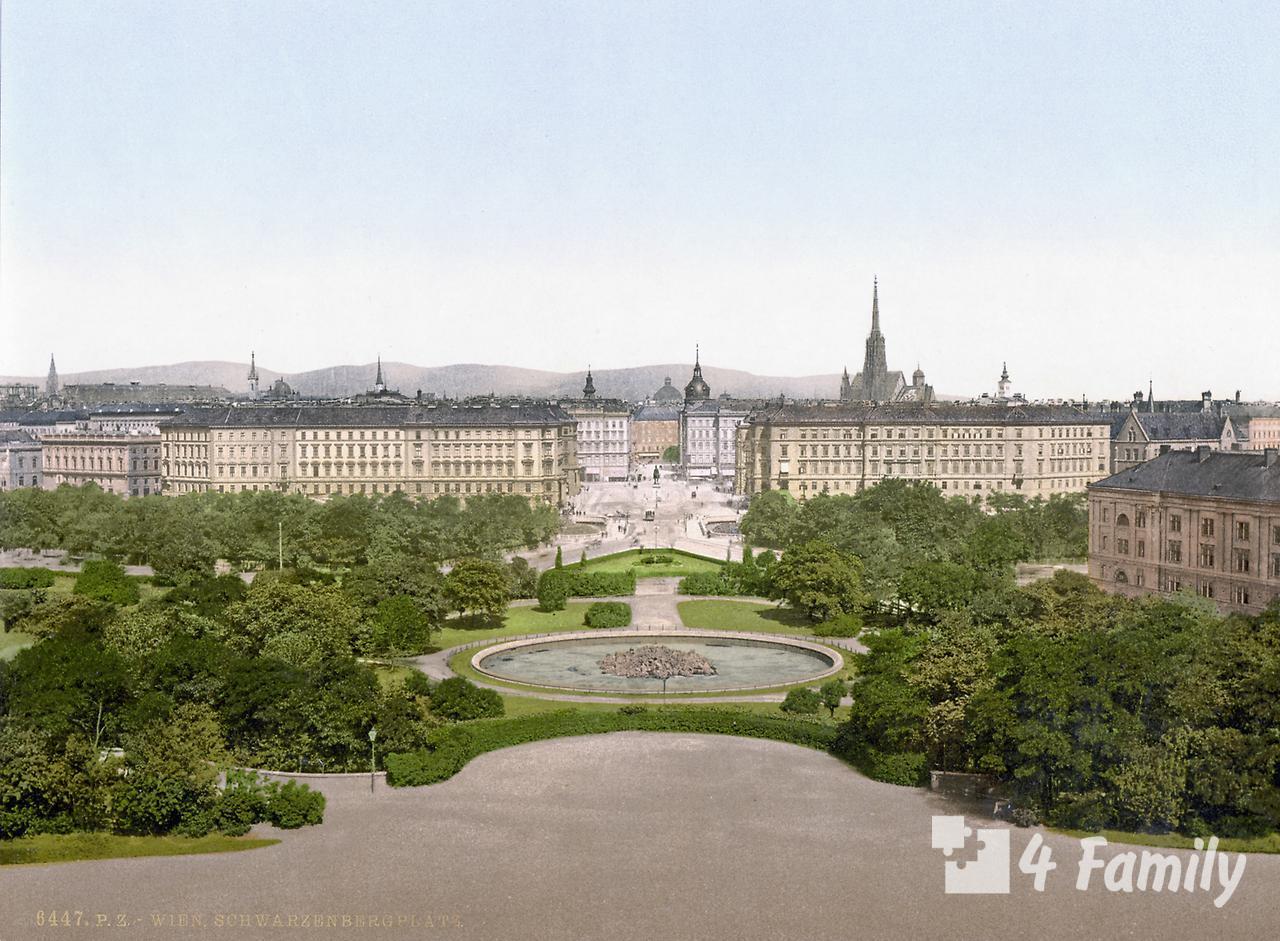 Площадь Шварценбергплац в Вене