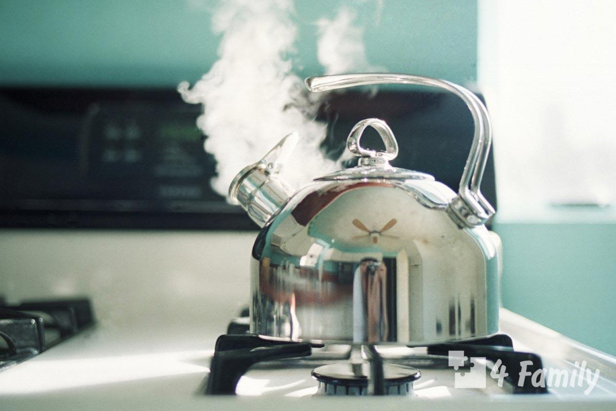 4family Как убрать налет с чайника