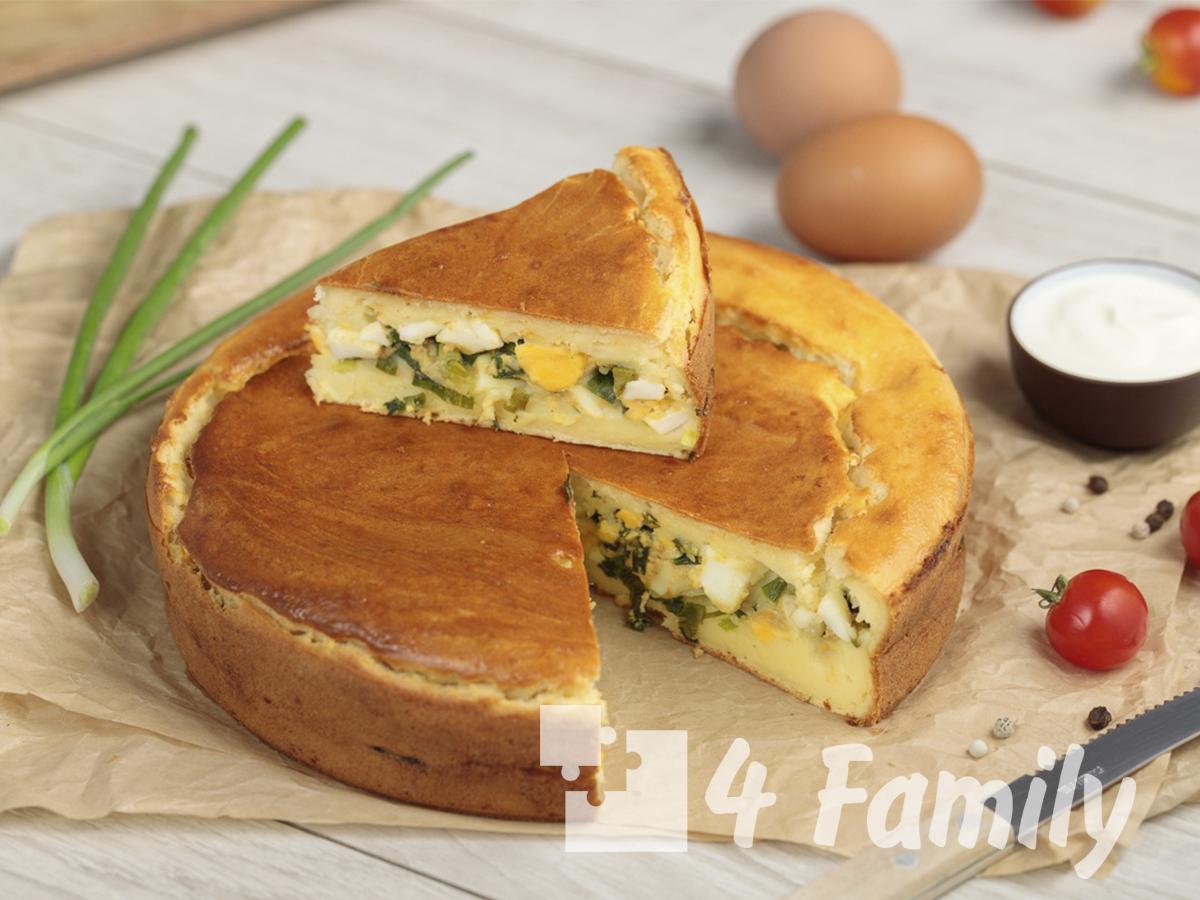 Ленивые пирожки с луком и яйцом