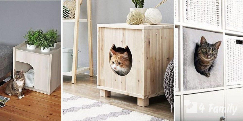 Какими бывают домики для кошек