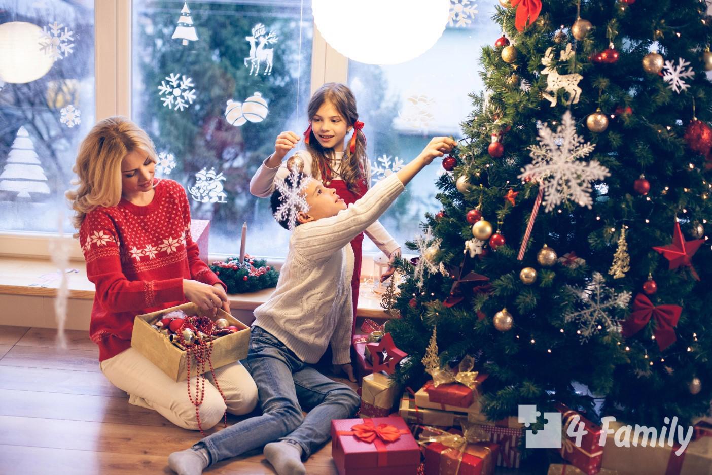 Украшаем дом вместе с детьми новый год