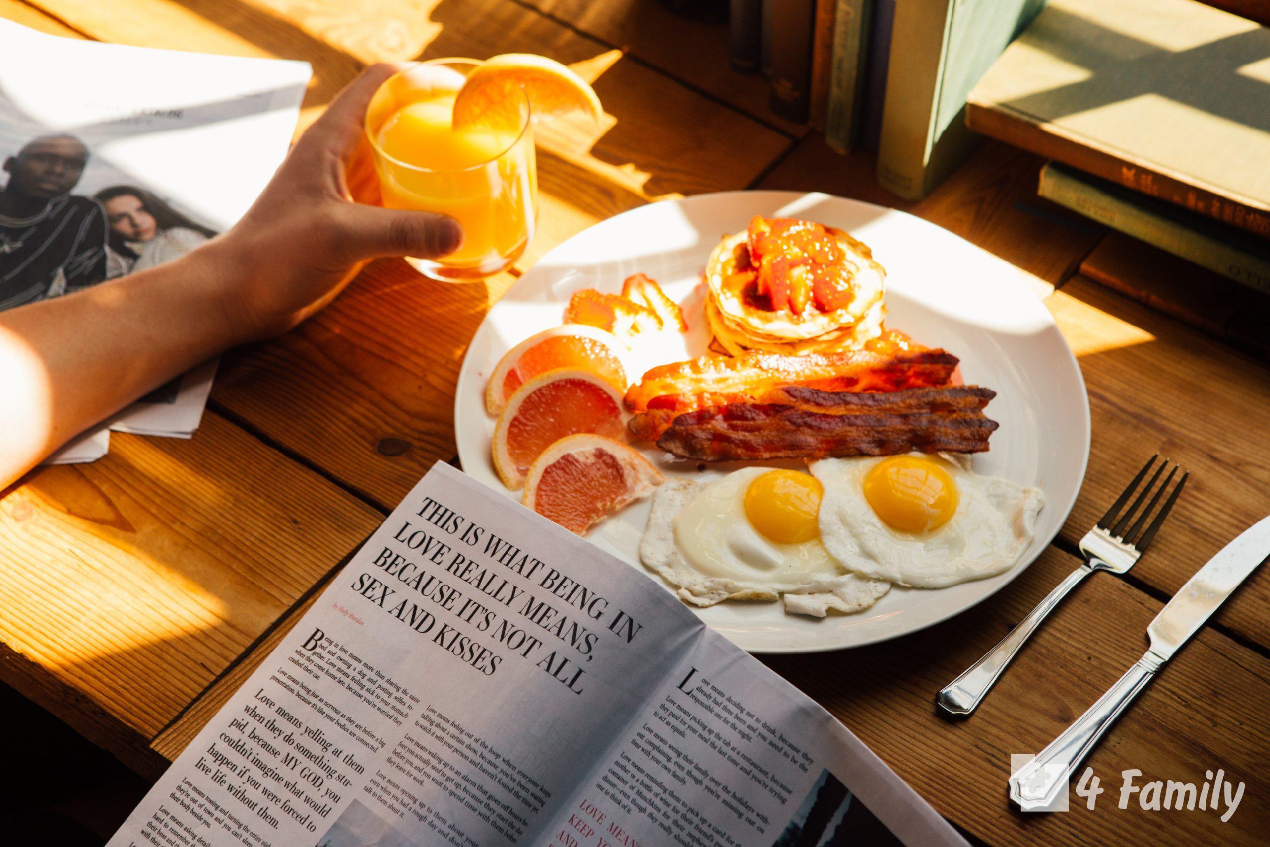 Что главное должно быть на завтрак