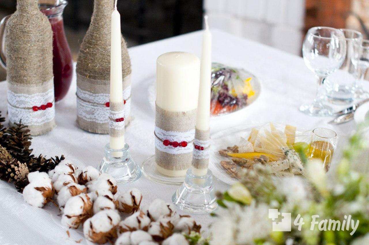 Декорировать бутылку шампанского к Новому году