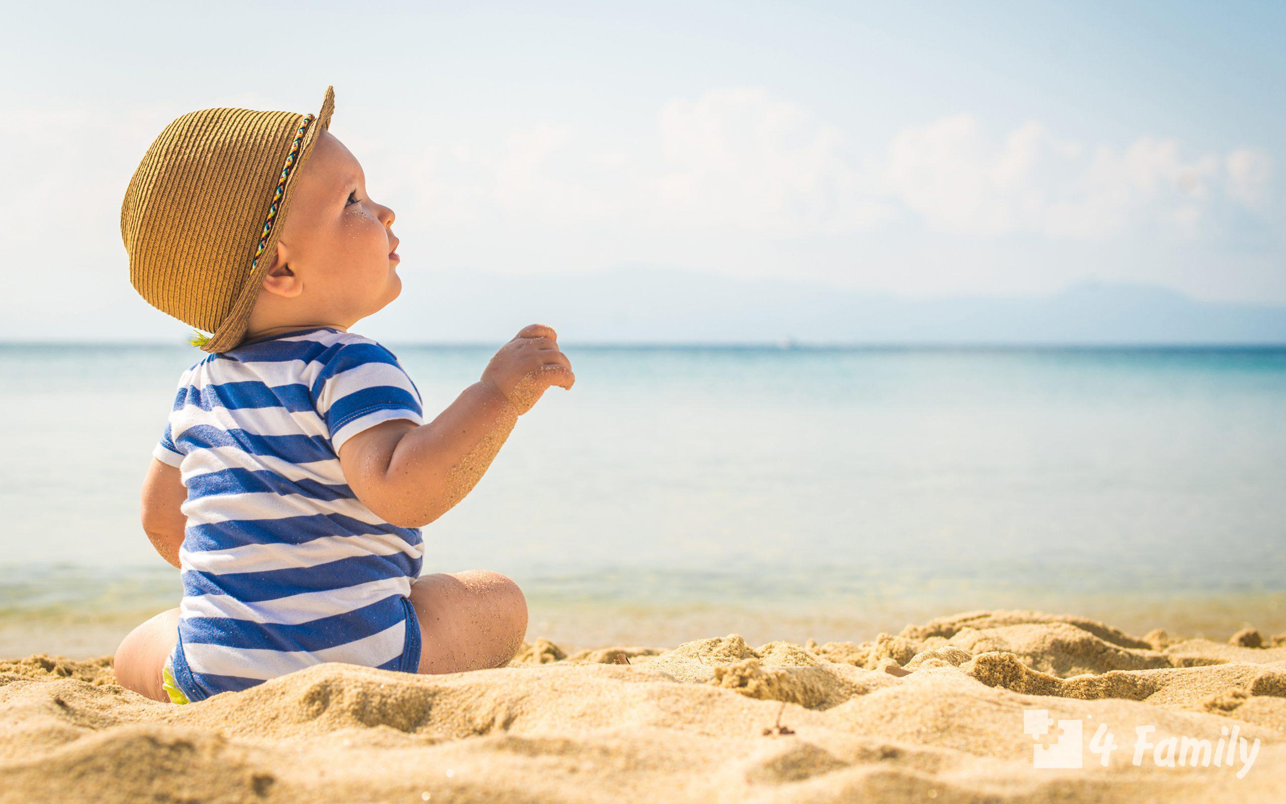 Идем на пляж с ребенком