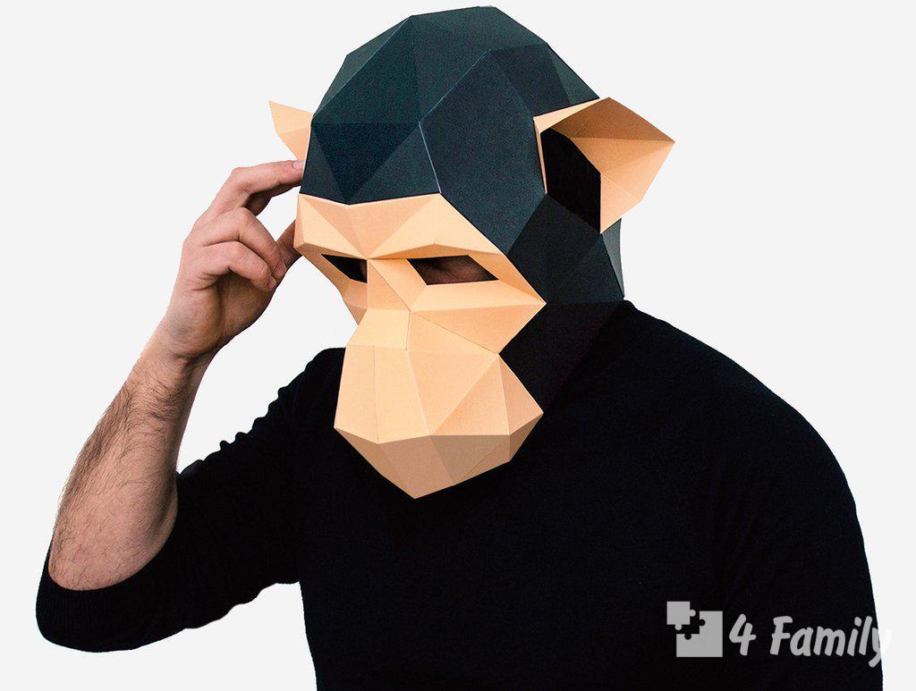 Как сделать маску обезьяны своими руками