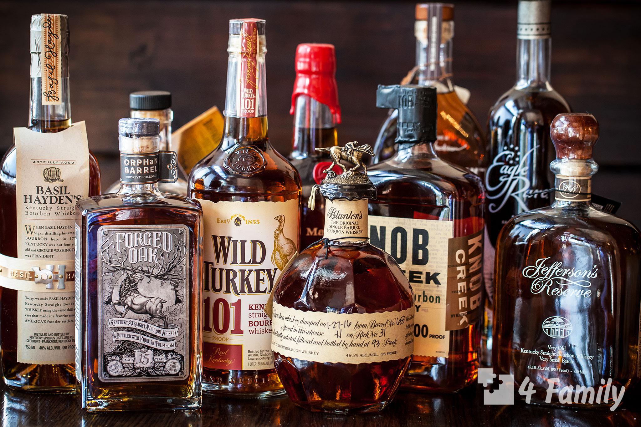Разница между виски и бурбоном и скотчем