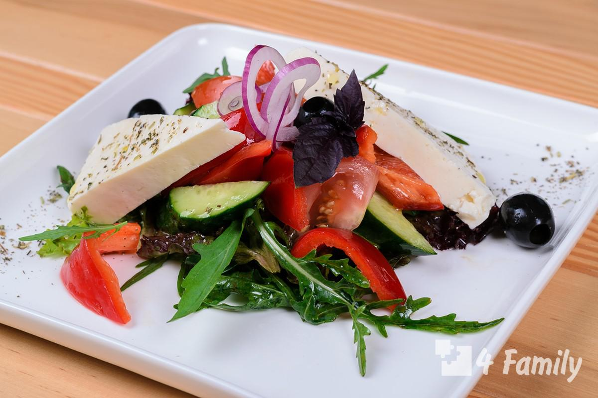 4family Как сделать салат с брынзой
