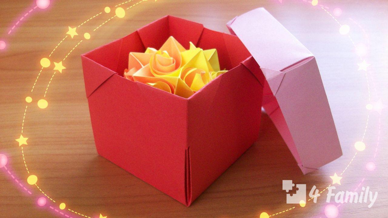 Как сделать коробку из бумаги своими руками