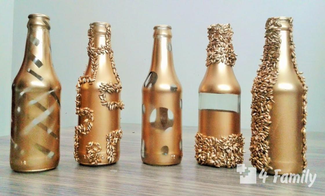 4family Как сделать подарочную бутылку своими руками