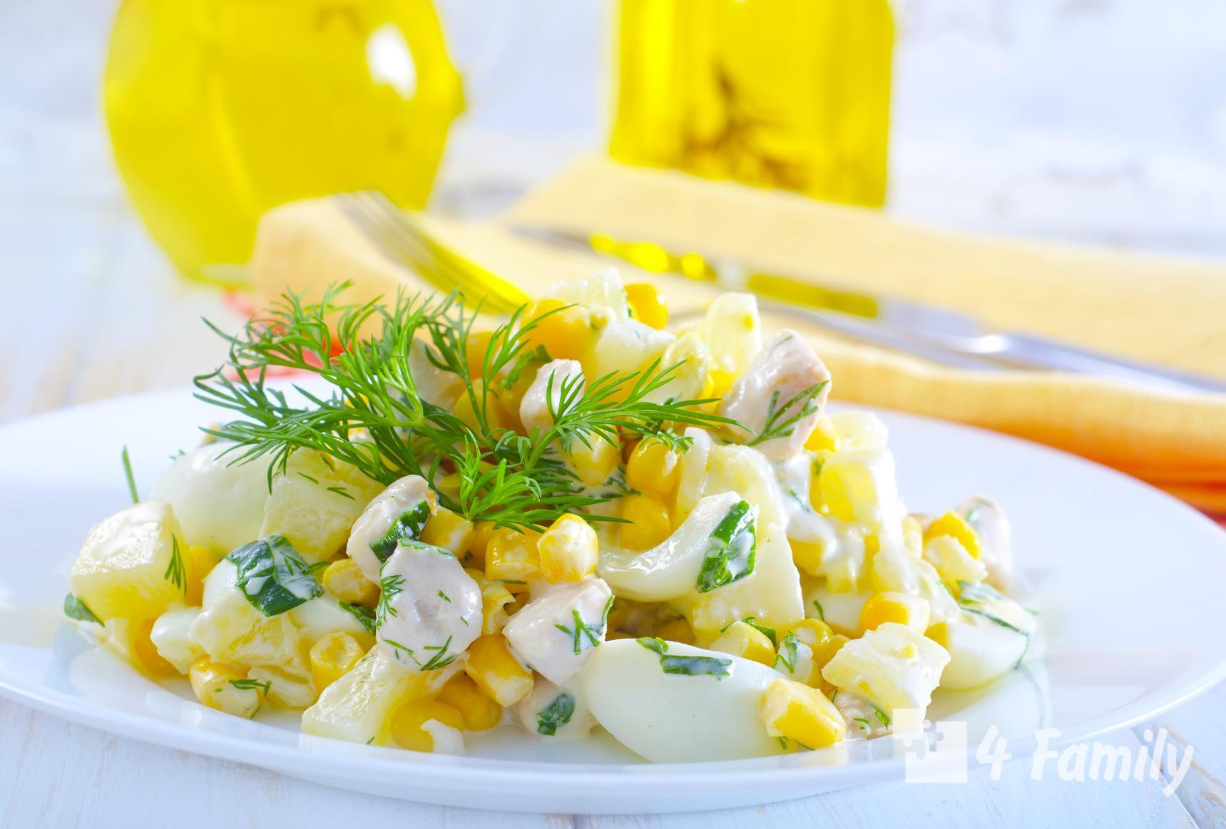 Как приготовить салат с ананасом и курицей, и сыром