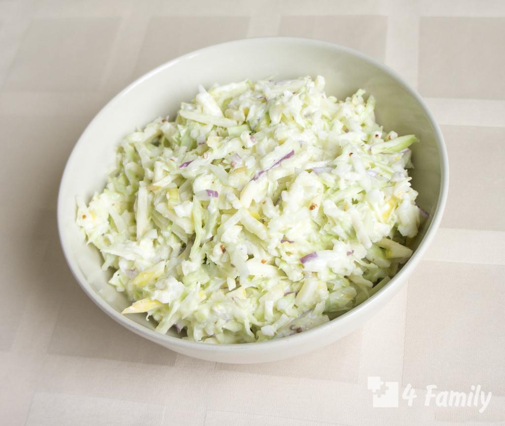4family Как сделать салат из свежей капусты с майонезом