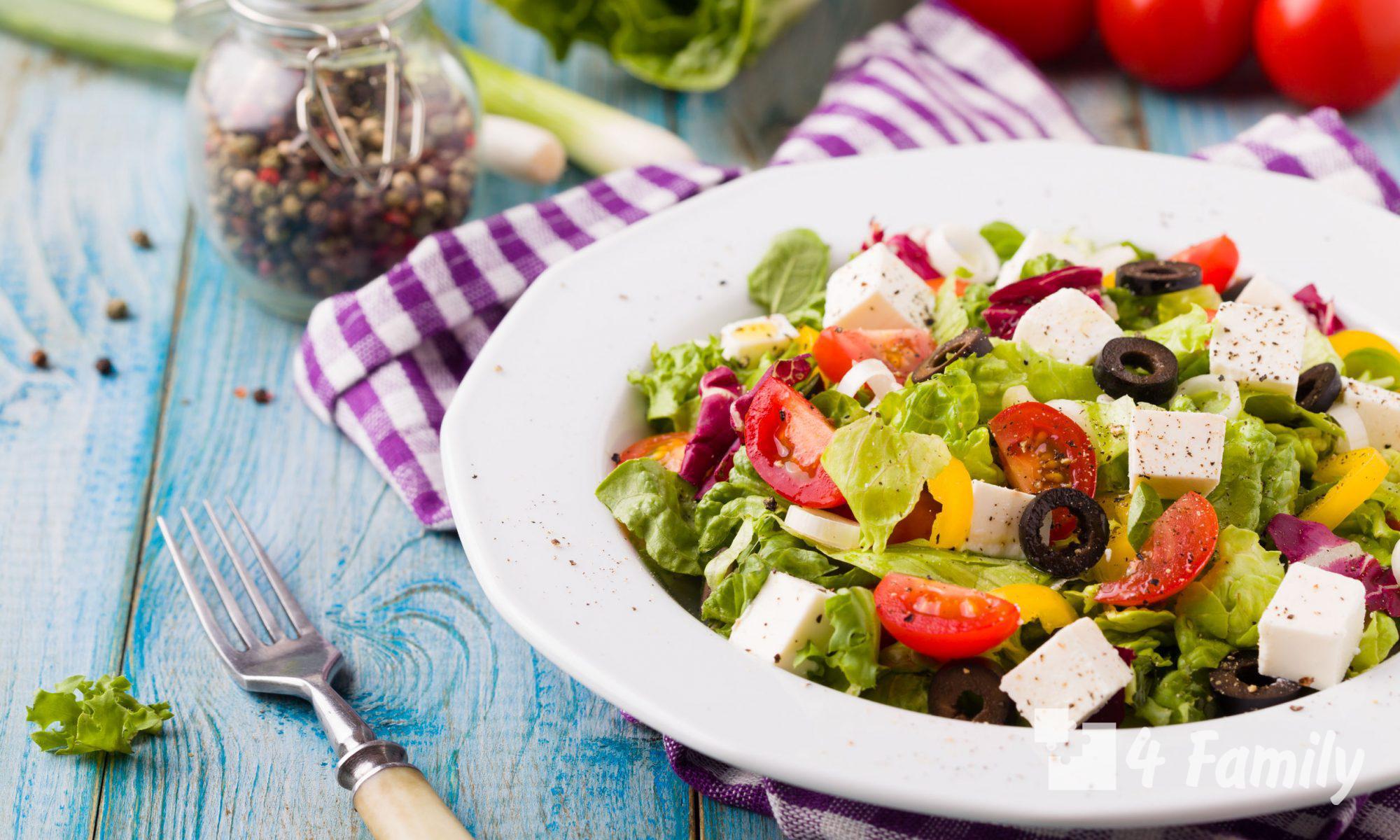 4family Как сделать греческий салат с оливковым маслом
