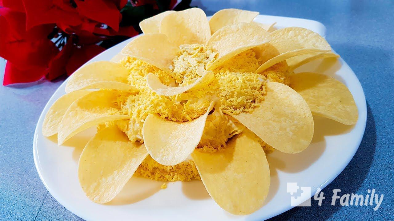 4family Как приготовить салат хризантема