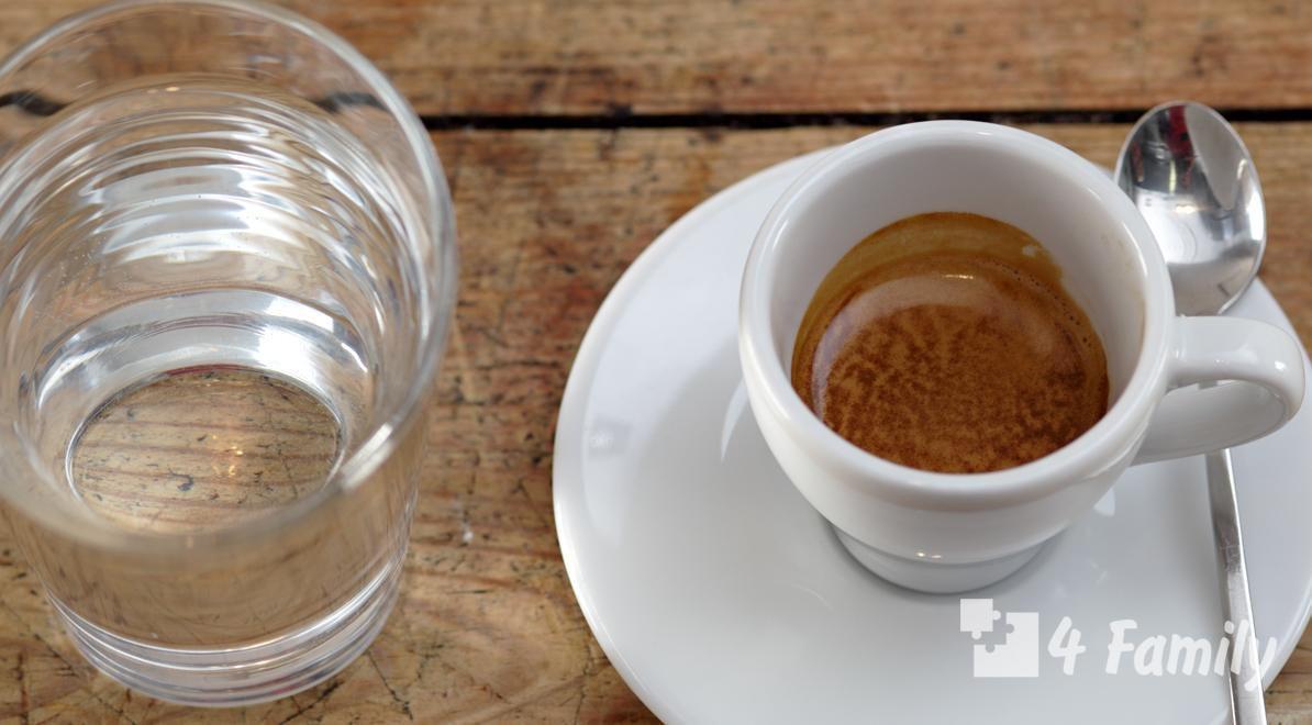 4family Зачем к кофе подают холодную воду