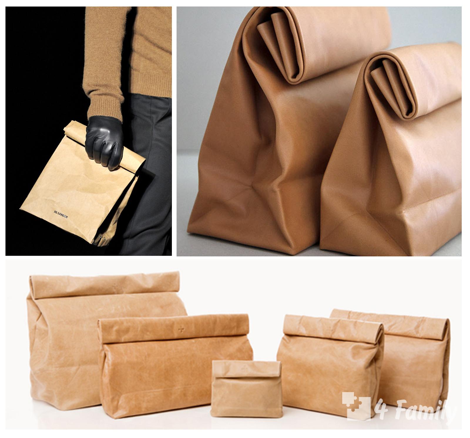 4family Как сделать одноразовую сумку из бумаги