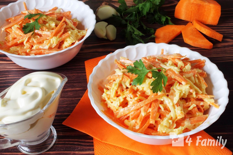 4family Как сделать салат из свежей моркови и сыра