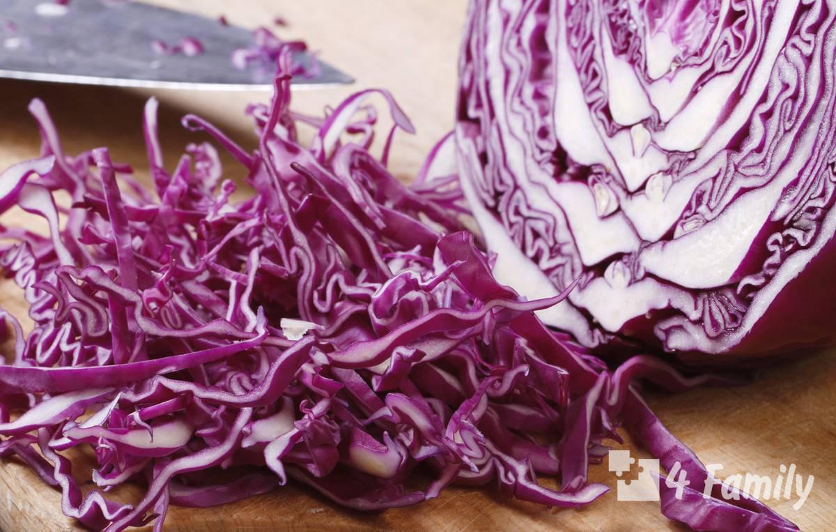 Cалат из фиолетовой капусты