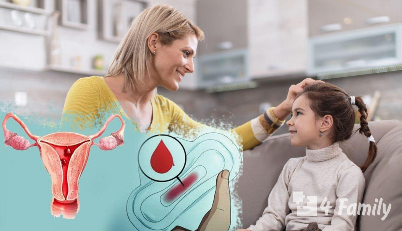 4family Как рассказать девочке про месячные