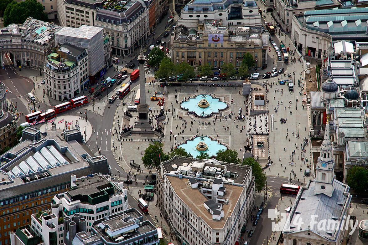 4family Трафальгарская площадь в Лондоне